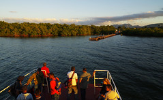 Evening boat journey from Cayo Levisa (Gregor  Samsa) Tags: cuba trip adventure exploration journey december vacation holiday kay cay cayolevisa cayo levisa boat boats evening sunset sunlight light people passengers