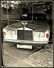 Rolls Royce anyone? (larry_shone) Tags: car rollsroyce urban sepia selectivecolour