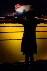 massa festassa i jo a la terrassa (mr. txutis) Tags: roja fuegosartificiales noche silueta sanfermin pamplona navarra fireworks night nocturna nafarroa euskalherria nikon fiesta party