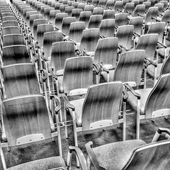 Have a seat.   #photography #photooftheday #photo #streetphotography #london #seat #repetition #repeatpattern #abstraction #blackandwhite #pattern #abstract #abstraction #lines #vanishingpointjunkies #VegFestLondon #vegfest2016 (Andrea Kennard) Tags: instagramapp square squareformat iphoneography uploaded:by=instagram