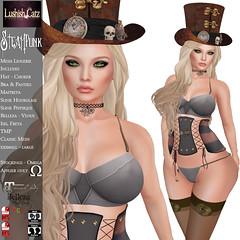 LushishCatz_SteamPunk_lingerie (Kayshla Aristocrat) Tags: lingerie lushishcatz maitreyameshbody maitreya belleza stocking corset steampunk hat choker designer kayshlaaristocrat