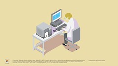 University of Dundee - Pathologist on computer (dundeetilt) Tags: universityofdundee schoolofmedicine medicalillustration medical medicine medicalart pathology lab process pathologist science scientificillustration vector scientist specimen disease laboratory