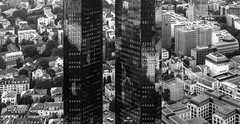 the twins (perceptions (off)) Tags: frankfurt reflections urban city skyline bw