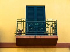 PA024291 Sicily Italy Lipari (Dave Curtis) Tags: 2013 em5 europe omd olympus sicily italy lipari yellow green window balcony shutters