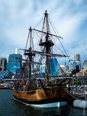 HMB Endeavour (Pursuedbybear) Tags: sydney sydney2016 darlingharbour australiannationalmaritimemuseum hmbendeavour bark