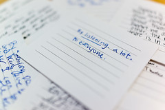 Good advice (scottboms) Tags: thesupportreport cards handwriting projects facebook books menlopark california