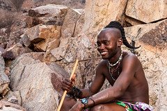 Unmarried Himba Man 4026 (Ursula in Aus) Tags: africa namibia offcameraflash himba portrait male