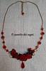 collier rose (Il cassetto dei sogni) Tags: parure rose rosso pastadimais artigianale orecchini collana