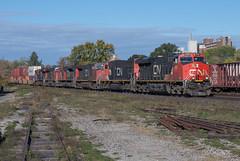 Power Move on Q148 (Joseph Bishop) Tags: cn 2855 ge es44ac trains train track tracks railfan railroad railway rail rails cndundassubdivision brantford ontario