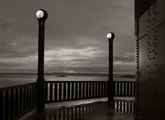 Golden Gate Noir (RevellRay) Tags: bridge goldengatebridge alcatraz noir rain bw