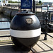 WW2  sea mine, now a collection box for the Shipwrecked Mariners Society