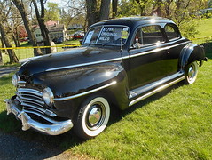 1948 Plymouth Special Deluxe Coupe (splattergraphics) Tags: 1948 plymouth specialdeluxe coupe p15 mopar carshow carlisle springcarlisle carlislepa