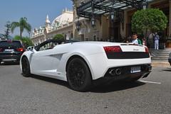 Lamborghini Gallardo LP560-4 Spyder (D's Carspotting) Tags: lamborghini gallardo lp5604 spyder monaco white 20130726 8305