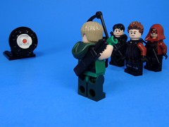 Archery Contest (MrKjito) Tags: lego minifig super heroes archer green arrow arsenal malcolm merlyn hawkeye marvel dc comics comic crossover target contest cinematic universe
