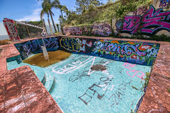 Brisbane Graffiti Pool! (Voodoooz) Tags: urbex urban explore abandoned drain brisbane city queensland australia tourist water street river house me red blue white tree sky night art light summer old hot sexy babe travel tourer adventure camera building extreme danger photography flashback outdoor indoor architecture alley shop road