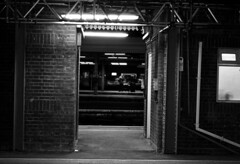 Window to another point of view (owensherrod) Tags: london photographer bw lights subway tube door doorway platform perspective ngc