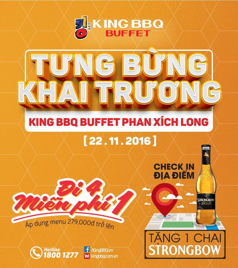 Tưng bừng khai trương Kingbbq Buffet Phan Xích Long BUFFET