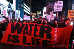 NYC Solidarity march with Standing Rock 23 Nov 2016 (lucky_dog) Tags: nodapl dakotaaccesspipeline nyc newyorkcity newyork solidarity radicals march vigil standingrock mniwicon waterislife martinlutherkingjr timessquare