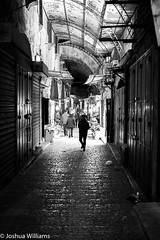 DSCF9675 (Joshua Williams' Photography) Tags: jerusalem israel bw night oldcity