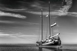 De Minerva in de Waddenzee