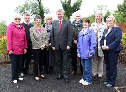 DSD Minister Mervyn Storey, MLA is pictured with representatives from the Irvinestown Famine Graveyard Committee, the Northern Ireland Housing Executive and Fermanagh and Omagh District Council during a visit to the Irvinestown Famine Graveyard