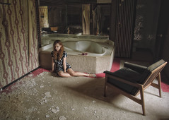 (yyellowbird) Tags: selfportrait abandoned girl hotel illinois chair jacuzzi cari
