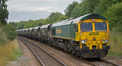 Freightliner 66613 at Langwith (thestig2) Tags: robin station train gm derbyshire go shed rail railway loco 15 august 66 class line round hood 17 merry coal railways 17th mgr closure colliery locmotive thoresby freightliner 2015 langwith