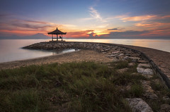 In My Place (Farizun Amrod Saad) Tags: morning bali beach nature yoga sunrise indonesia relax landscape alone relaxing human sanur pantaikarang karangbeach