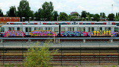 Graffiti (oerendhard1) Tags: urban streetart art angel graffiti rotterdam metro painted trains vandalism ret pitu faos tames guos