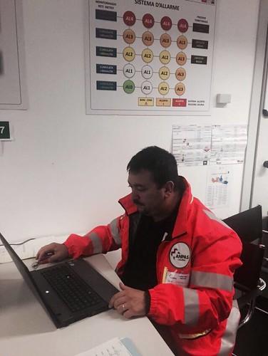 AllertameteoLIG - Le operazioni di assistenza e coordinamento dei volontari Anpas