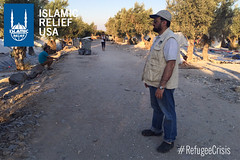 Islamic Relief USA CEO Anwar Khan visits the refugee settlement areas in Greece.