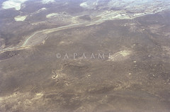 Azraq Kite 73 (APAAME) Tags: geotaggedbasedonsite scannedfromnegative aerialarchaeology aerialphotography middleeast airphoto archaeology ancienthistory