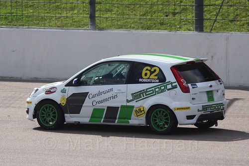 Scott Robertson in Fiesta Racing at Rockingham, Sept 2015