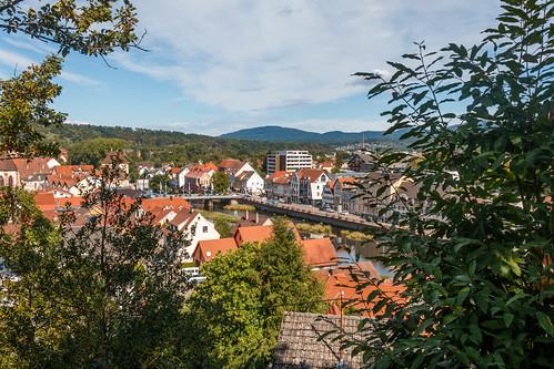 Vue sur Gernsbach depuis le Ehrenmal
