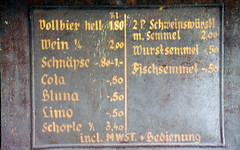 Saulgrub historische Speisekarte (Horst Stcker) Tags: nikon speisekarte f301 naturfreundehaus saulgrub