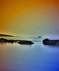 Tug at Twilight (Light-N-Lin) Tags: boats twilight bc victoria tugboat tug yachts settingsun calmevening andshipsboatsyachtsandships shipsandvesselswhatevertheweather
