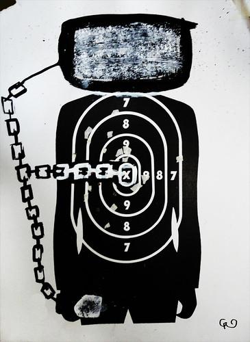 Serie_ VIOLENCIA SIN GENERO. _Manipulación informatica _Acrílico sobre blancos de cartón75x54_Nov2015
