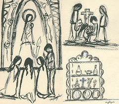 In honor of All Souls Day & Dia de los Muertos! (DeGrazia Gallery in the Sun) Tags: arizona ted architecture dayofthedead sketch artist gallery desert artgallery tucson az adobe degrazia catalinas ettore allsoulsday nationalhistoricdistrict galleryinthesun