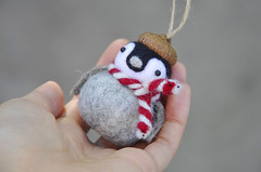 Needle felted penguin chick ornament (noristudio3o) Tags: noristudio christmas penguin ornament needle felted animal ornamnets holiday felting felt