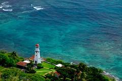 An ocean view from the top of Diamond Head, Hawaii (Wing Tam Photography) Tags: ocean travel sea lighthouse hawaii waikiki diamondhead honolulu seashore seascrape
