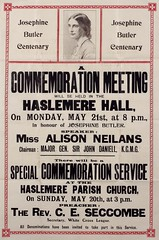 Poster : Josephine Butler Centenary. A commemoration meeting, 1928.