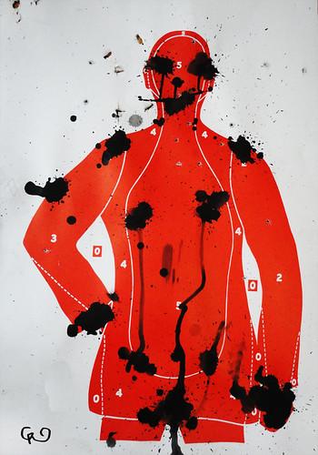 Serie_ VIOLENCIA SIN GENERO. 1_Violencia o abuso sexual _Acrílico sobre blancos de cartón75x54_Nov2015