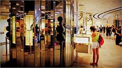 Galeries Lafayette, boulevard Haussmann, Paris, France (claude lina) Tags: paris france reflections magasin galerieslafayette iledefrance reflets ville miroirs
