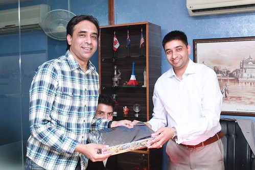 Gurpreet Sekhon editor G Asia being facilitated by MD LinguaSoft Edutech Pvt. Ltd. Chandigarh