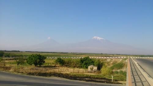 Вид на гору Арарат.