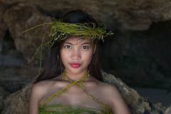 at the lonely beach (karlhans) Tags: cute sexy beach model sand philippines young bikini workshop hazel cebu pinay filipina cebuana beachshooting