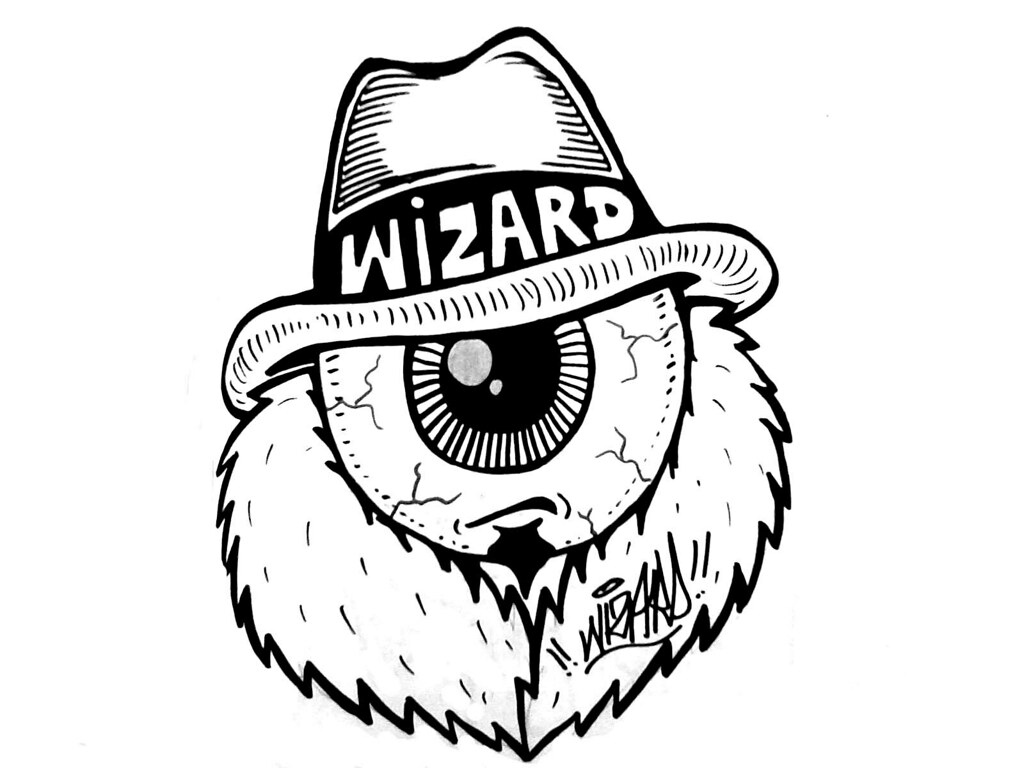 Gangster sticker wizards stickers tags street eye art graffiti wizard character stickers evil tags