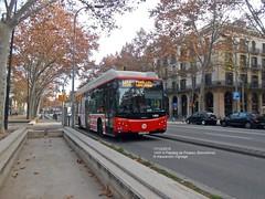 TMB #1400 in Passeig de Picasso (AlebusITALIA) Tags: autobus bus tram trasporti trasportipubblici tpl publictransport transportation barcellona barcelona tmb autobuses busdegaz gasnaturalfenosa gncbus cngbus metano busametano h14 novaxarxa irisbus citelis iveco