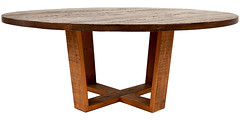 Vienna dining table with wood base