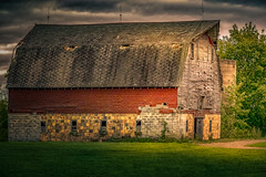 Layers Revealed (henryhintermeister) Tags: barns minnesota oldbarns clouds farming countryliving country sunsets storms sunrises pastures nostalgia skies outdoors seasons stanchfieldmn field